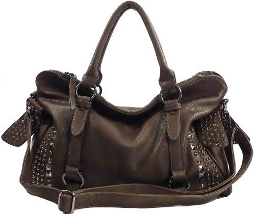Mylux Connection Close-Out Women Girl Shoulder Bag 120885 (dark (Studded Purse)