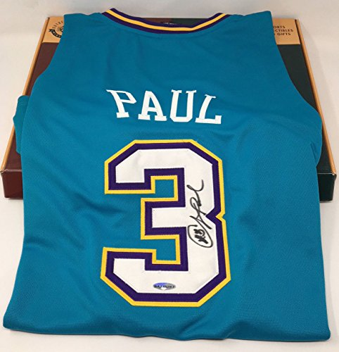 CHRIS PAUL Autographed New Orleans Hornets Rookie Authentic Jersey UDA
