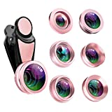 Phone Camera Telephone Lens Kit,TOP-Max 7 in 1 Universal 198°Fisheye + 15X Macro +0.63X Wide Angle+0.36X Super Wide Angle + CPL + Kaleidoscope Lens for iPhone X/8/7/6/6s Plus Samsung & Most Android