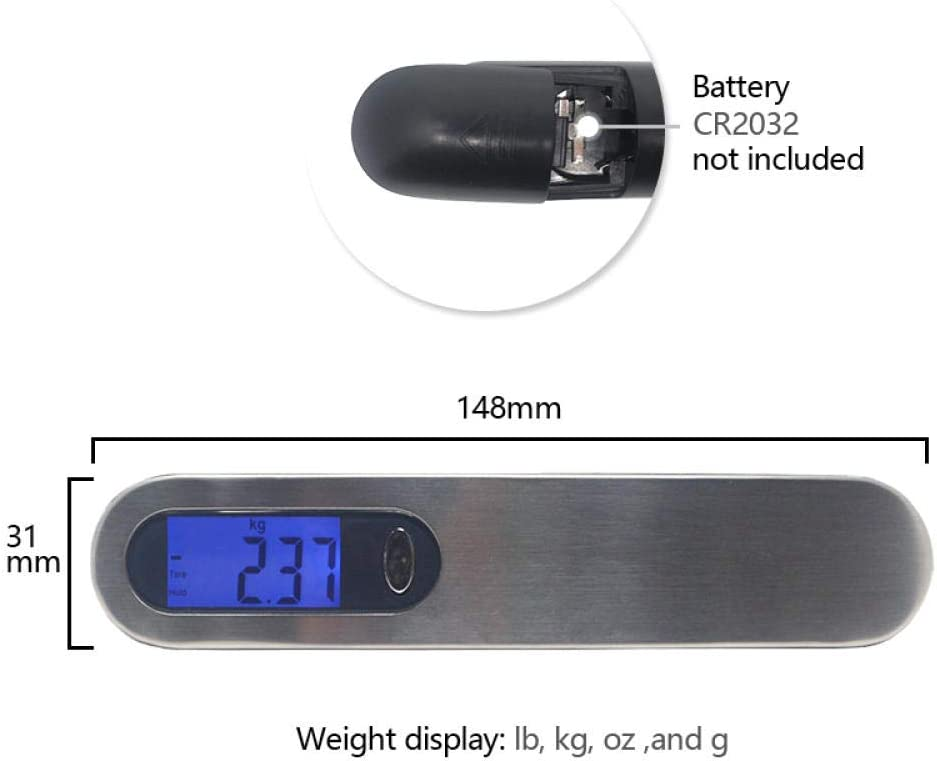 50kg//10g Portable Electronic Scale LCD Digital Hanging Luggage Weight Hook Scale