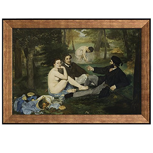 Luncheon on the Grass by Edouard Manet Framed Art