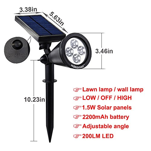 B And M Solar Wall Lights : {New Version 2 Modes} 200 Lumens Solar Wall Lights / In-ground - Import It All
