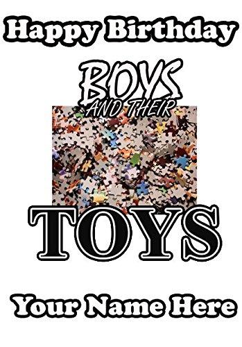 Los niños y sus juguetes Puzzle Cumpleaños Tarjeta de ...