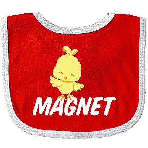 Inktastic Im a Chick Magnet Baby Bib Red/White
