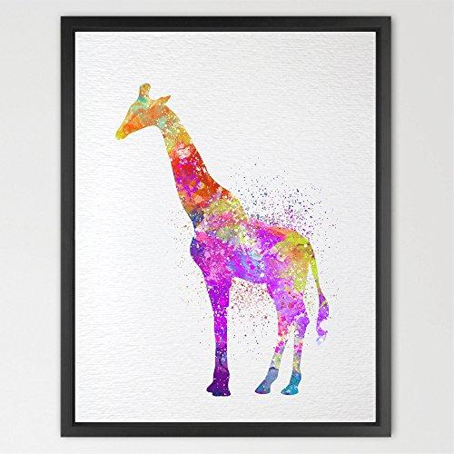 Dignovel Studios 8X10 Giraffe Watercolor Print Nursery décor Kids Art Print Wedding Gift Birthday Gift Fantasy Art Baby Shower Animal print baby shower gift N272
