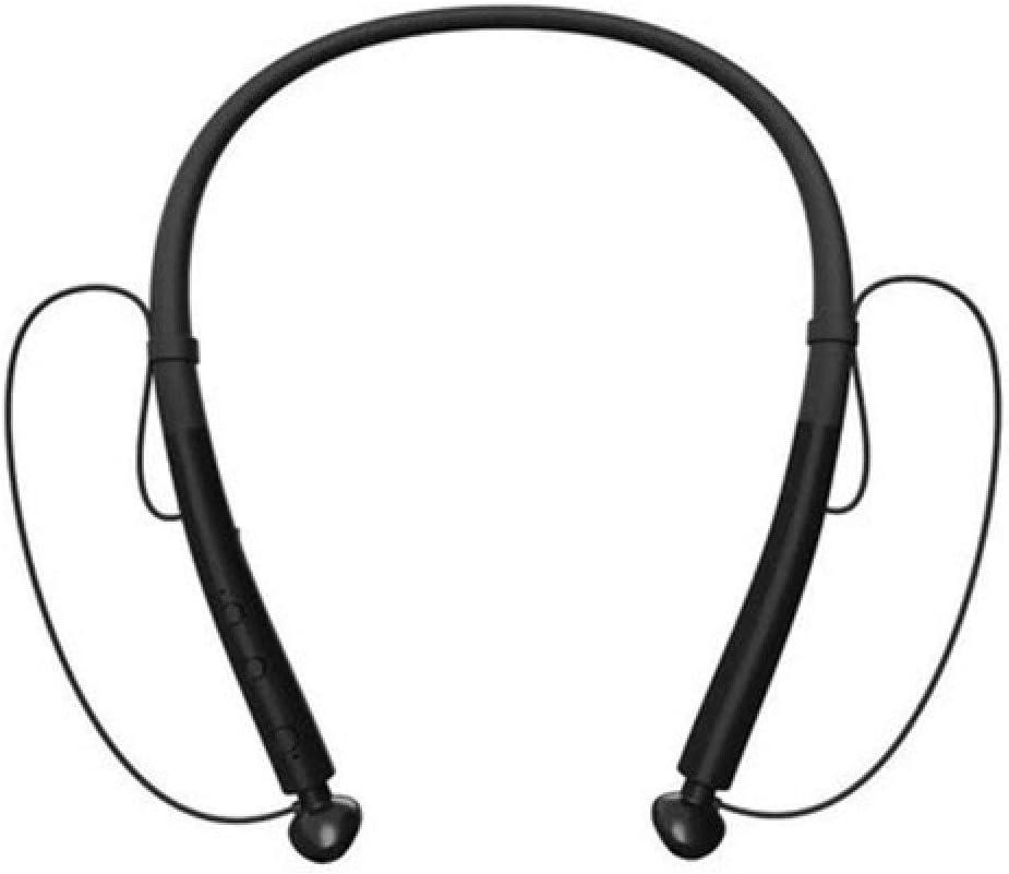 chachacha Sports Neck Hanging Wireless Bluetooth Headset Double Ear 5.0 Stereo Ultra Long Standby Waterproof Heavy Bass HeadphonesCool Black