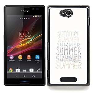 Stuss Case / Funda Carcasa protectora - Texto verano minimalista White Sun Surf - Sony Xperia C