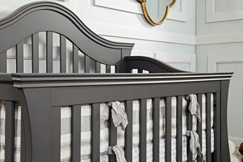 Million Dollar Baby Classic Ashbury 4-in-1 Convertible Crib with Toddler Bed Conversion Kit, Manor Grey by Million Dollar Baby Classic (Image #2)