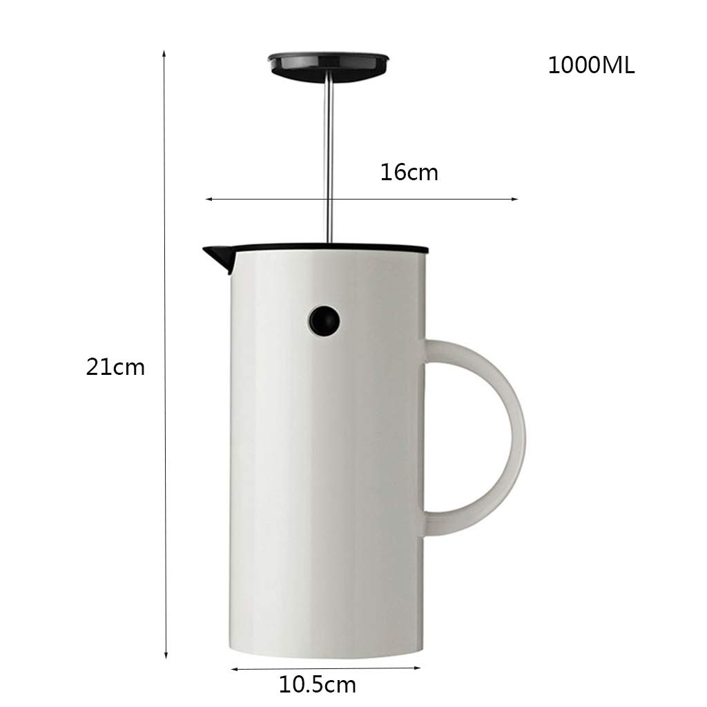 Coffee Pot Method Pressure Pot Coffee Pot Home Nordic Style French Filter Press Pot Teapot Capacity 1l by YQQ-Coffee Pot (Image #2)