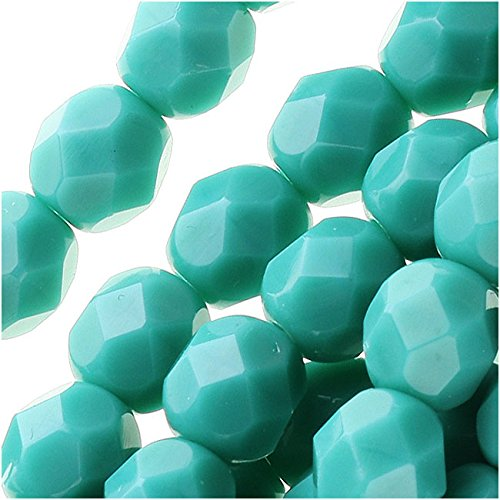 (Jablonex Czech Fire Polished Glass Beads 6mm Round 'Persian Turquoise' (25))