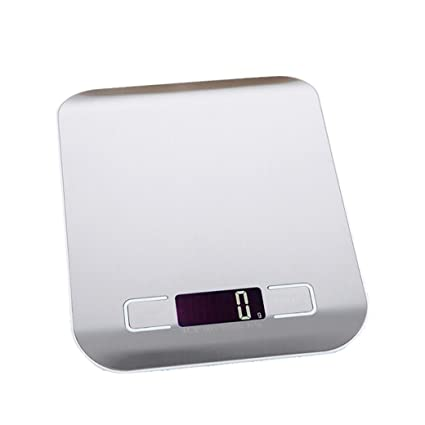 STRIR Báscula Digital para Cocina de Acero Inoxidable, 5kg / 11 lbs, Balanza de