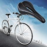 Hollow MTB Road Bike Bicycle Saddle Sports Soft Pad Saddle Seat Black