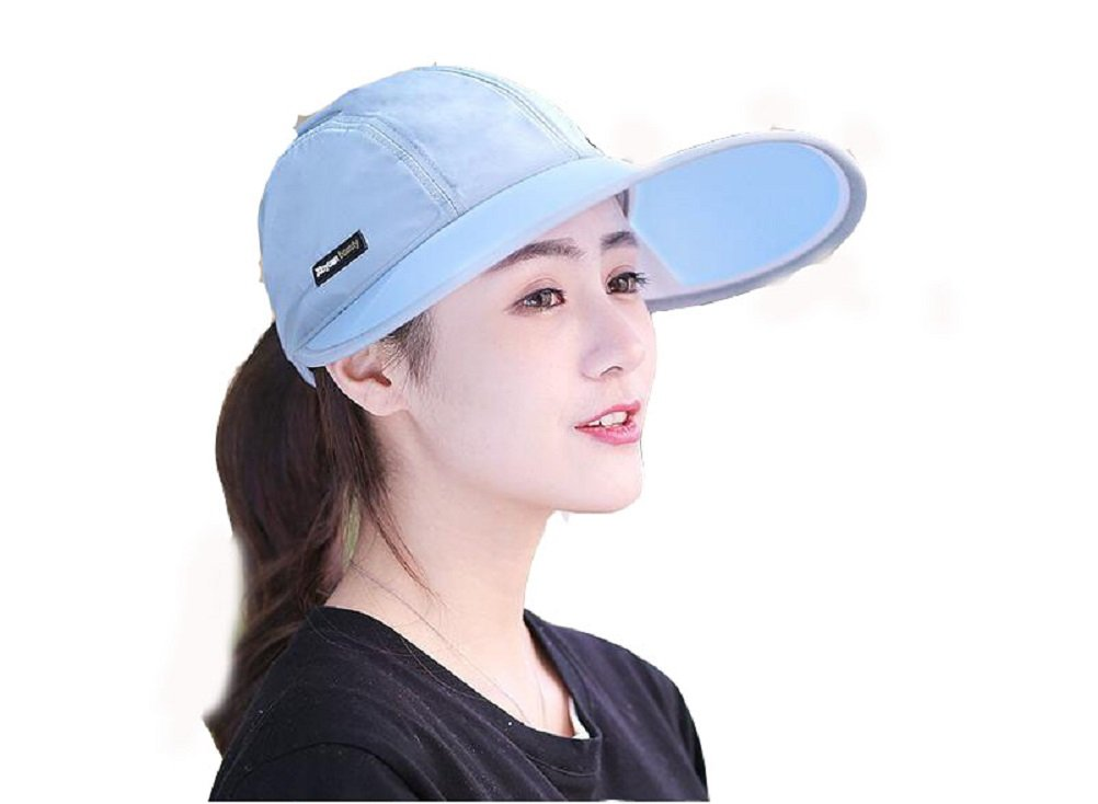 Cherish SY Summer Sun Visor Hat Adjustable Wide Brim Sun Hat Women Men UV  Protection Caps Hat UPF 50+ Packable Beach Visor Caps Lady Sun Shade Hat  Sunscreen ... adc9e8820f2