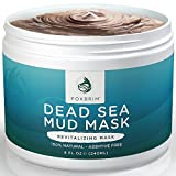 Pure Dead Sea Mud Mask – 100% Natural Clay Face Mask by Foxbrim – Additive Free – Restoring & Detoxifying Dead Sea Mud Mask for Acne, Tone and Lines – Imported from Israel – 240ml/8oz For Sale