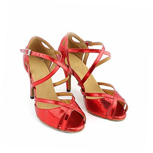 Misu 75 mujer peep Dance toe de salón toe Salsa de 2 with Latin Peep 2 con Sandals Tango para Sandalias baile Tango Ballroom latina Women's Zapatos Práctica Practice 75 Salsa Misu Shoes waxTIT
