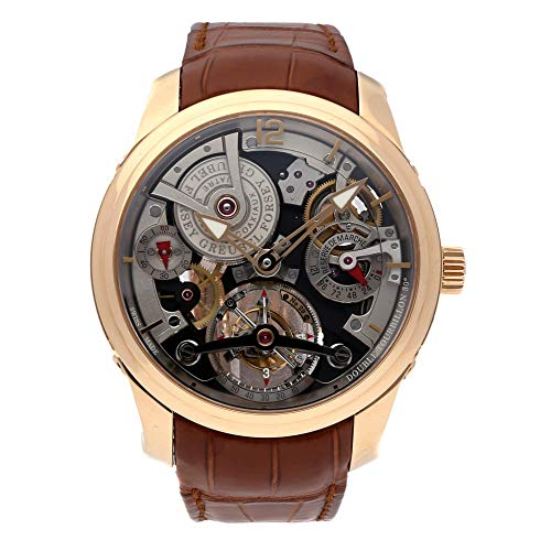 Greubel Forsey Tourbillon Mechanical (Hand-Winding) Skeletonized Dial Mens Watch 01 855 (Certified Pre-Owned)