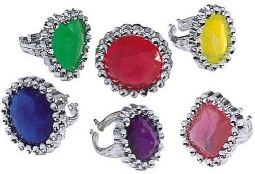 (Pirate Treasure Jewel Rings, 24 count)