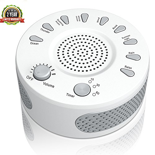 [2018 New] White Noise Machine, Coeuspow Sleep ...