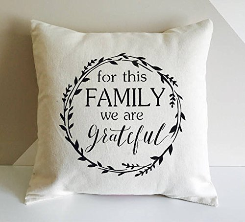 Farmhouse Grateful Family pillow cover Home Decor