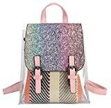 Panda Kelly Clear Backpack Girls Clear Transparent Plastic PVC Bag Travel Beach Outdoor Daypack, Shining Pink