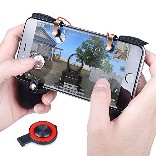 Qoosea PUBG Mobile Game Controllers Triggers Multi-Function Handle Grip Gamepad Sensitive Shoot Aim Joysticks for PUBG/Fortnite / Knives Out/Rules of Survival for 4.5'' to 6.5'' Android iOS Phones by Qoosea