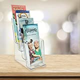 """SourceOne Brochures Holder for 4"""" Trifold"""