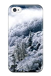 AnnaSanders Scratch-free Phone Case For Iphone 4/4s- Retail Packaging - Downtrees Mountain Snow Kids Jackets Dresses Shoes Vacations Season Coats Fall Flowers Santa Nature Winter