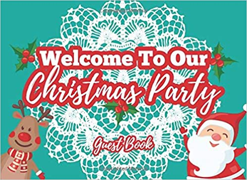Welcome To Christmas.Welcome To Our Christmas Party Guest Book Keepsake For