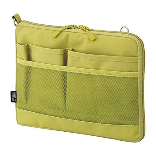 Lihit Lab., Inc. Bag-in-bag Smart Fit Akutakuto A5 horizontal Yellowgreen A7680-6