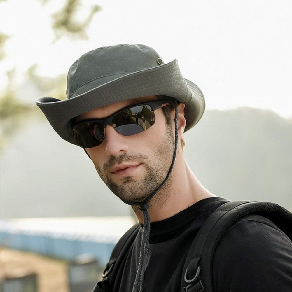 Fyore Sun Hat for Men Summer Bucket Hat Fishing Hiking Cap Wide Brim UV Protection Flap Hat Breathable Beach Hat