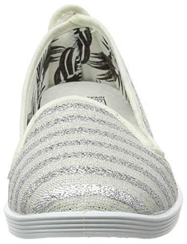 Women's Bergasa Flats Grey Closed Silver 000 Ballet Toe Flossy vd6wav