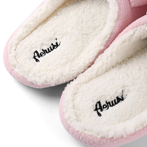 Pink Bear Animal Adult Fuzzy Indoor Shoes Winter Bear Flopsy Plush Teddy Slipper Cute Bedroom Kid House Aerusi tqZYfwaw