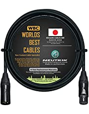 10 Foot – Quad Balanced Microphone Cable Custom Made by WORLDS BEST CABLES – Using Mogami 2534 Wire and Neutrik NC3MXX-B Male & NC3FXX-B Female XLR Plugs