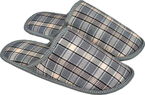 Para hombre Textil Mules ligero Zapatillas de casa cuadros - Design-2