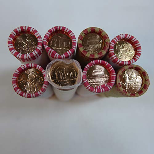 2009 P & D Lincoln BICENTENNIAL Penny BU Roll Set (8) Bank Wrapped Rolls Uncirculated