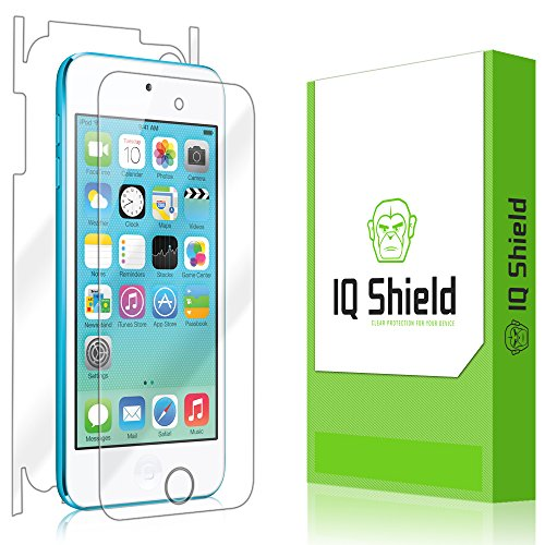 iPod Touch Screen Protector, IQ Shield LiQuidSkin Full Body Skin + Full Coverage Screen Protector for iPod Touch (6th Gen) HD Clear Anti-Bubble Film - with