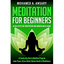 Meditation: Meditation for Beginners:  A 20 Day How to Meditate Program: Inner Peace, Stress Relief, Mental Health & Mindfulness Ultra Effective Meditation and Mindfulness Guide