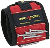 MagnoGrip 311-090 10 Pack Magnetic Wristband, Red