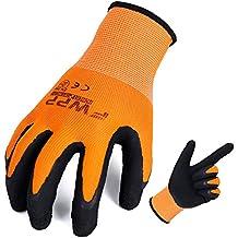 FWPP High Visibility Nylon Latex Foam Coated Work Gloves,Breathable Soft Wearproof Non-slip