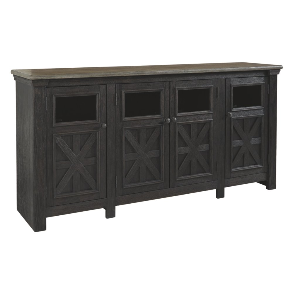 Signature Design by Ashley Tyler Creek Extra Large TV Stand Black/Gray by Signature Design by Ashley