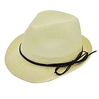 Fedora Sun Hats for Women ( White ), Fashion Gift for Lady by Miss Girl