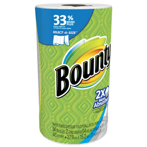Bounty Select-A-Size Paper Towels, White, 1 Big Rolls, 1.000 Conversion not found
