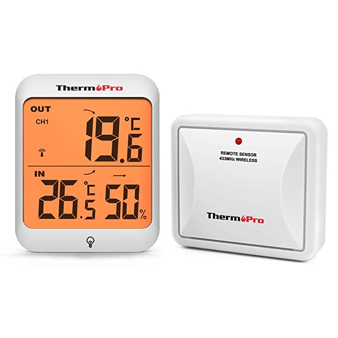 39 opinioni per ThermoPro TP63 Igrometro Termometro Digitale, Wireless Termometro Esterno per