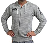 UFC Fan Gear Full Zip Hoodie, Chalk, Large