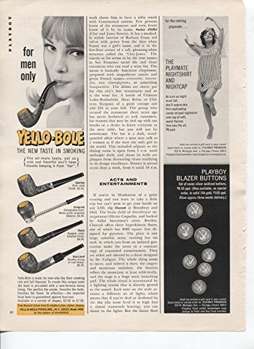 - Yello-Bole The New Taste In Smoking For Men Only Pipes 1966 Vintage Antique Advertisement