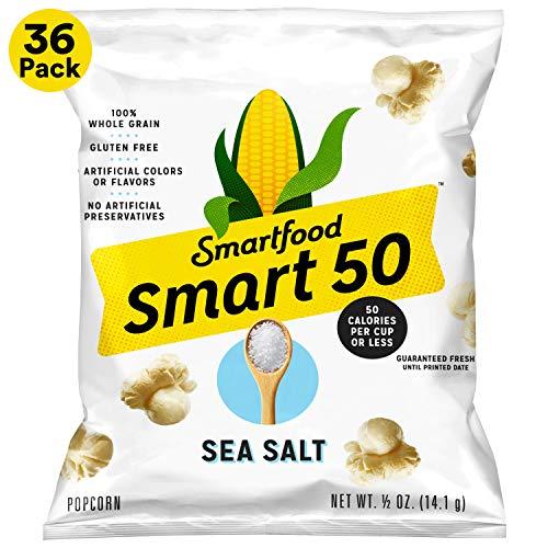 Smart50 Popcorn, Sea Salt, 36-Pack Only $10.11