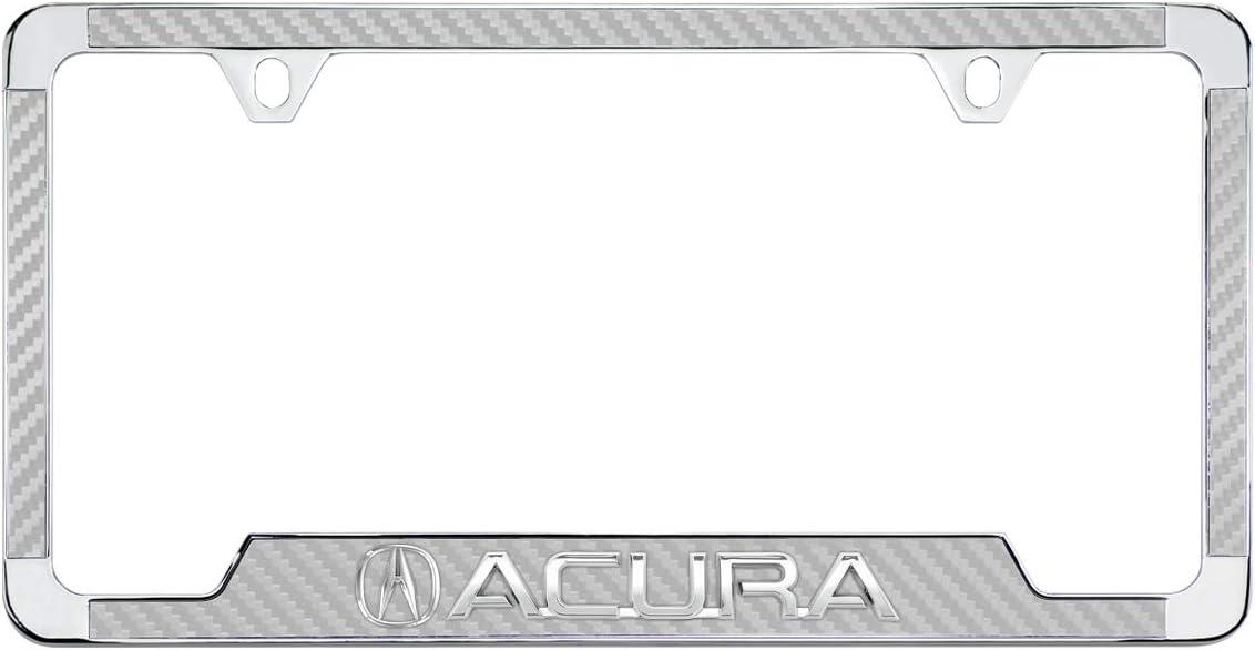 Acura TL Black Powder Coated Bottom Engraved Metal License Plate Frame Holder Baronlfi