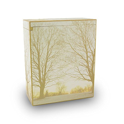 Forest Wood Cremation Urn for Scattering Ashes