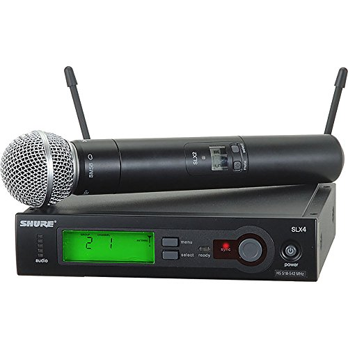 - Shure SLX24/SM58 Handheld Wireless System, H19 (SLX24/SM58-H19)