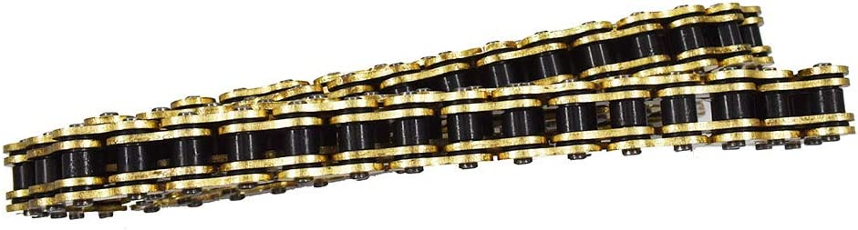 labwork Drive Chain Gold Color with O-Ring 525-120 for Suzuki Honda Kawasaki ATV Motorcycle 525 Pitch 120 Links